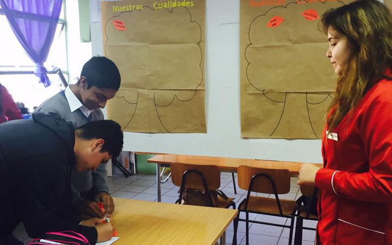 Alumnas de Psicología estimulan habilidades personales y de aprendizaje de escolares de La Serena