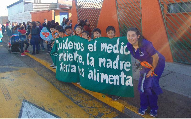 Estudiantes de Nutrición y Dietética organizaron marcha por el medio ambiente en Coquimbo