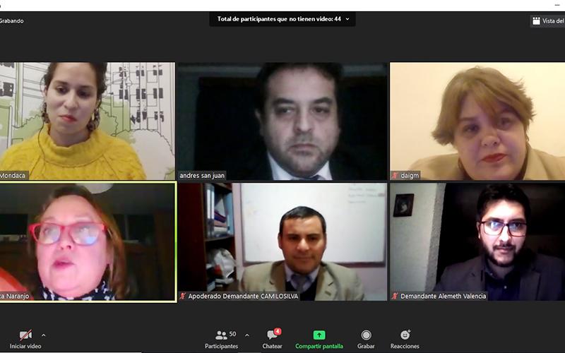 Simulación online de audiencia organizada por Derecho d ...