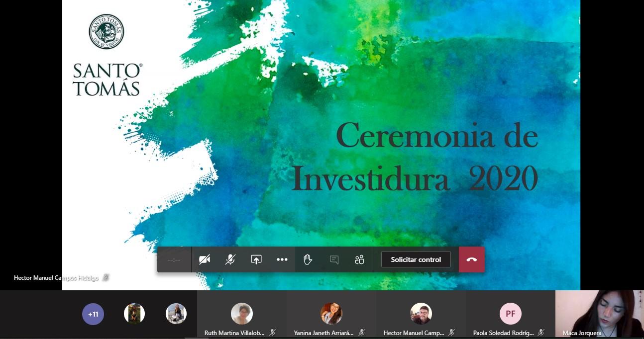Ceremonia de Investidura Trabajo Social Santo Tomás La Serena 2020