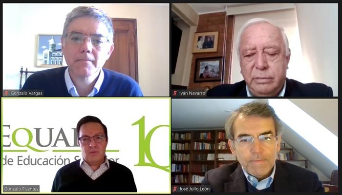 Vicerrector José Julio León participa en panel de expertos que analiza las bases constitucionales para la educación superior