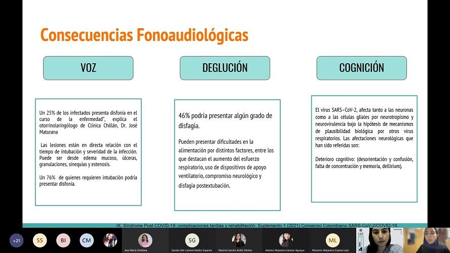 Fonoaudiología conoció experiencias en tratamientos pa ...