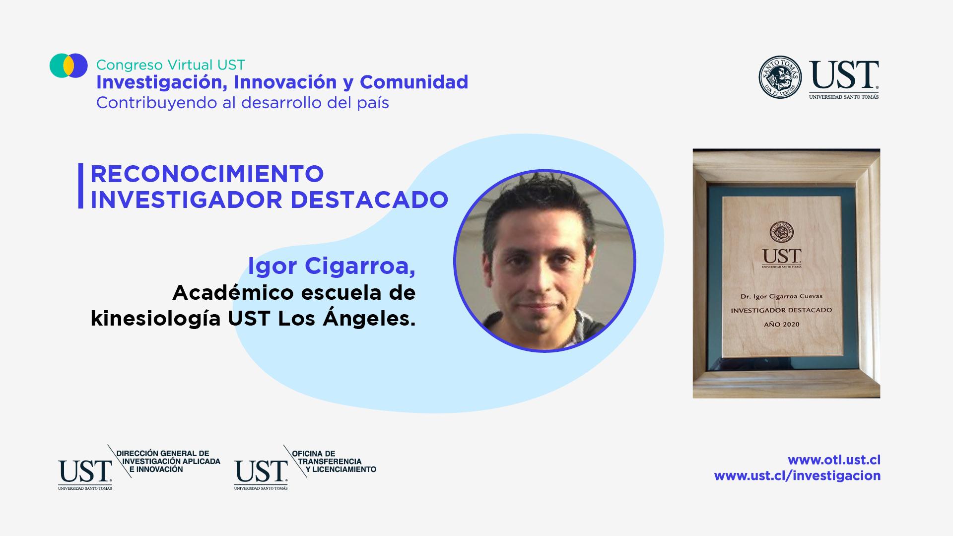 Docente Kinesiología UST Los Ángeles Recibe Premio a Investigador Destacado