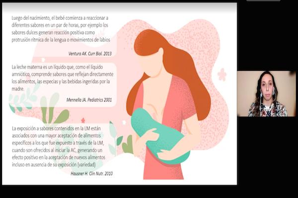 Escuela de Nutrición y Dietética conmemoró la Semana Mundial de la Lactancia Materna con seminario virtual