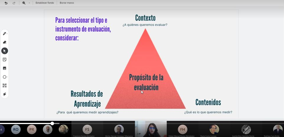 Docentes de la Facultad de Ciencias Sociales y Comunicaciones se capacitan en estrategias e instrumentos de evaluación en ambiente virtual de aprendizaje