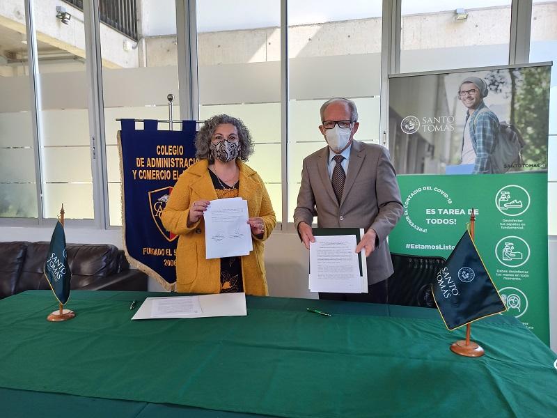 Alumnos del Colegio de Administración y Comercio El Ingenio continuarán estudios superiores gracias a convenio